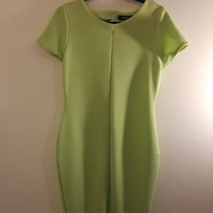 Misguided Lime Green Dress. Size 10